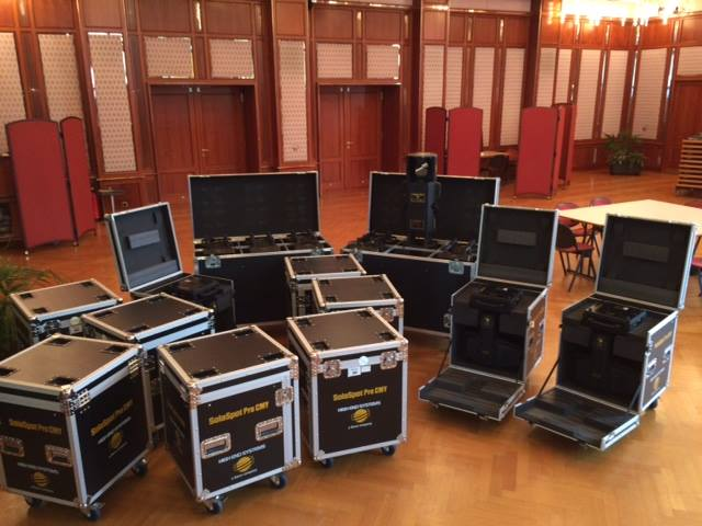 High End Systems Solaspot Pro CMY LED und Trackspot Bolt im Congress Casino Baden